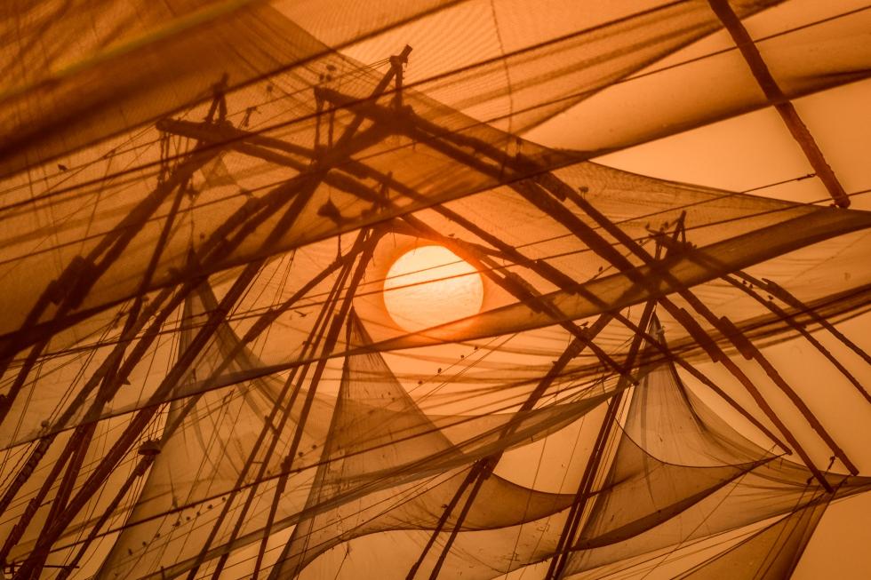 cochin fishing nets sunset